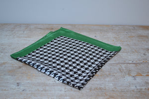 Elegant black and white Houndstooth Scarf