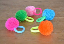 Load image into Gallery viewer, Pom Pom Neon Hair bands