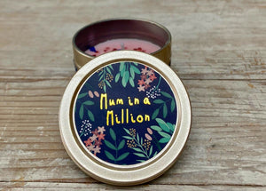 Mum in a Million - candle in a tin