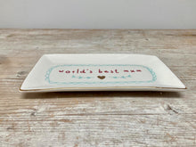 Load image into Gallery viewer, World's Best Mum - trinket plate - Sale Price!