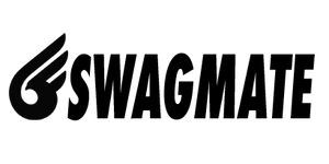 Black Swagmate logo with text and icon