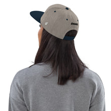 Load image into Gallery viewer, Swagmate Be Nice Snapback Hat - Heather/Grey/Navy