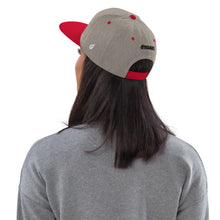 Load image into Gallery viewer, Swagmate Be Nice Snapback Hat - Heather/Grey/Red