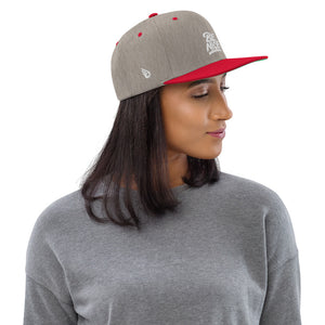 Swagmate Be Nice Snapback Hat - Heather/Grey/Red