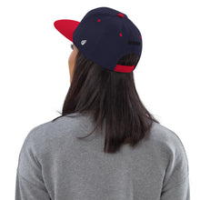 Load image into Gallery viewer, Swagmate Be Nice Snapback Hat - Navy/Red