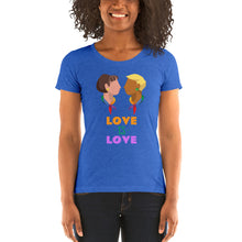 Load image into Gallery viewer, Swagmate Love is Love Short Sleeve Women's T-Shirt