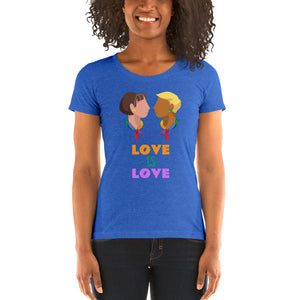 Swagmate Love is Love Short Sleeve Women's T-Shirt