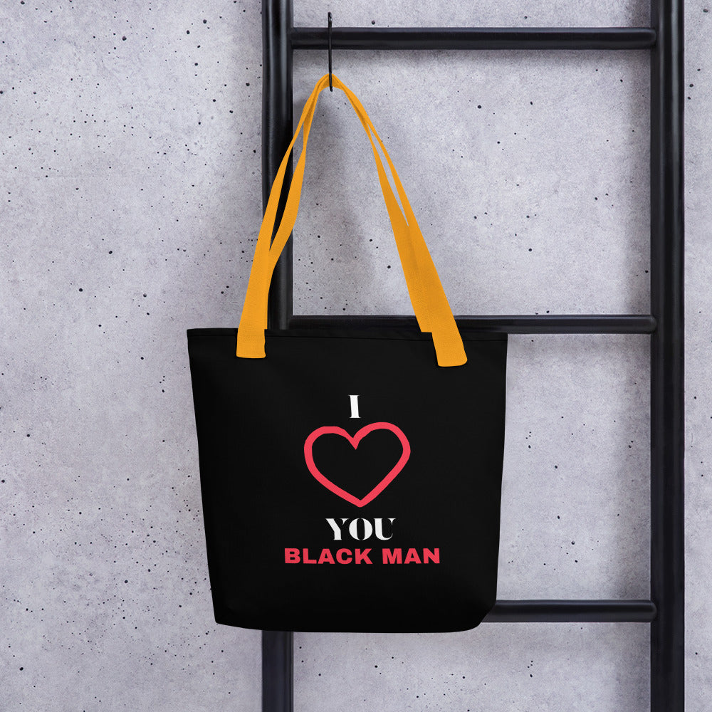 Swagmate I Love You Black Man Tote Bag
