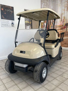 CERTIFIED PRE-OWNED 2014 Club Car Precedent Electric 4 Passenger Beige with Lights and 2018 Batteries