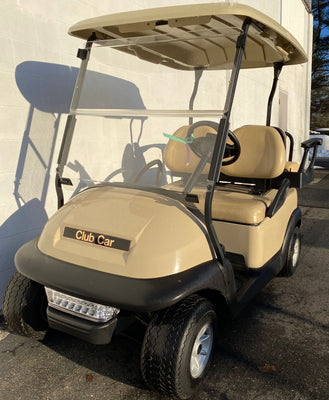 Certified Pre-Owned 2014 Club Car Precedent Electric Beige 4 Passenger Lights 2019 Batteries