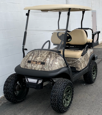 CERTIFIED PRE-OWNED 2017 ELECTRIC PRECEDENT CAMO 4 PASSENGER LIFTED LIGHTS 2019 BATTERIES