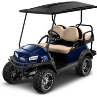 NEW 2021 Club Car Electric Lithium Ion Onward 4 Passenger Metallic Blue Onyx Lifted