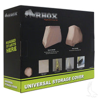 Storage Cover, Nylon,  2-Pass with 54 61 IN Top, Tan, Heavy Duty