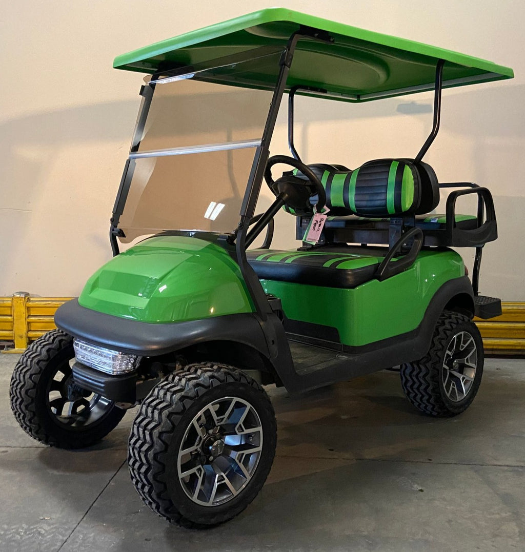 CERTIFIED PRE-OWNED 2016 ELECTRIC PRECEDENT LIME GREEN LIFTED 4 PASSENGER