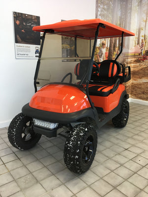 CERTIFIED PRE-OWNED 2016 ELECTRIC PRECEDENT ORANGE LIFTED 4 PASSENGER