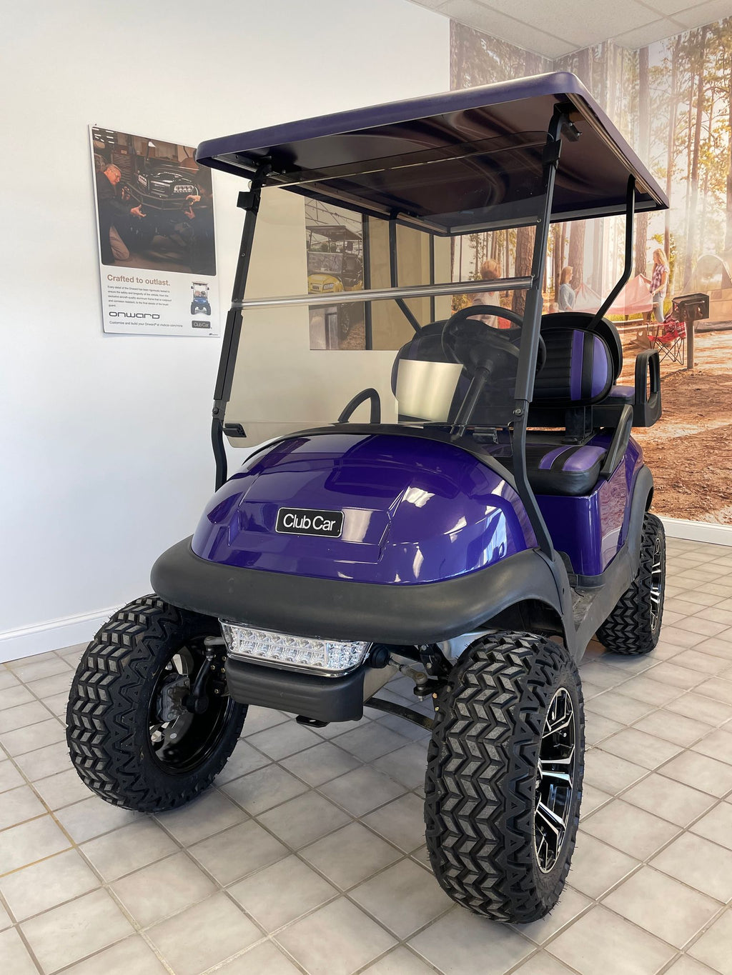 CERTIFIED PRE-OWNED 2017 GAS PRECEDENT PURPLE LIFTED 4 PASSENGER