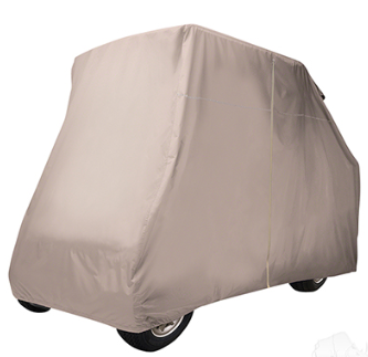 Storage Cover, Nylon with Rear Facing Seat Kit & 54-61 IN Top, Tan, Heavy Duty