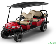 NEW 2020 Club Car Onward Gas Lifted 6 Passenger in Metallic Candy Apple Red