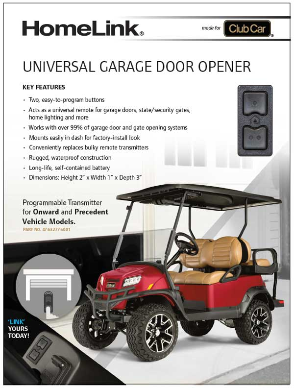 HOMELINK® UNIVERSAL GARAGE DOOR OPENER