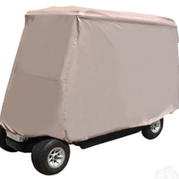 Storage Cover, Nylon with Reat Facing Seat Kit & 80 IN Top, Tan, Heavy Duty