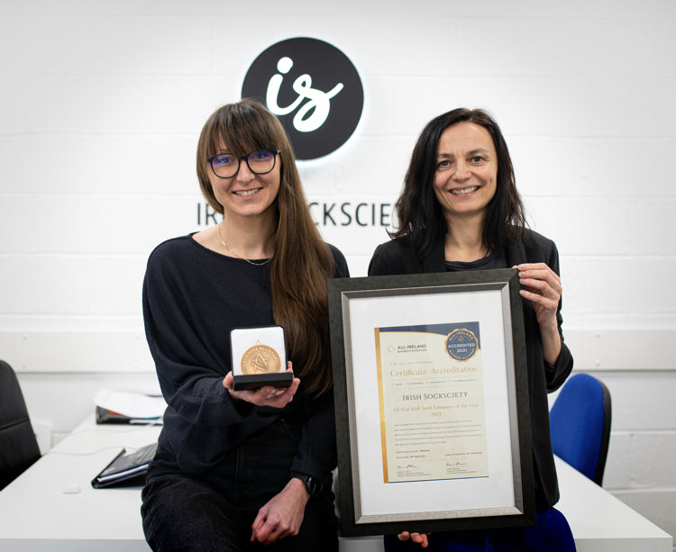 Irish Socksciety has been honoured with All-Star Irish Sock Company of the Year Accreditation from the All-Ireland Business Foundation.