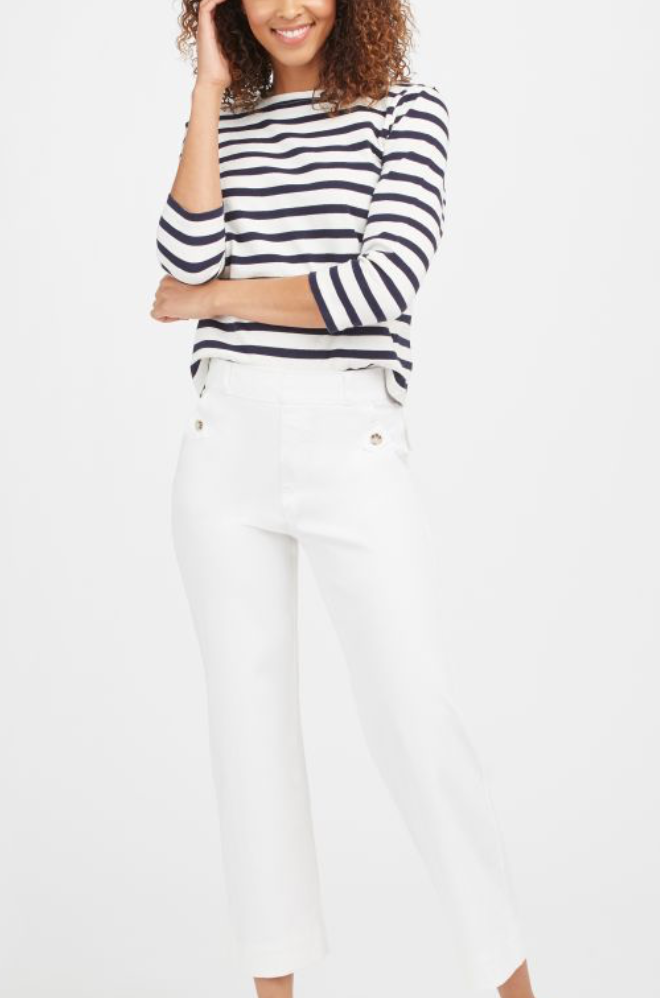 Spanx Twill Cropped Pant
