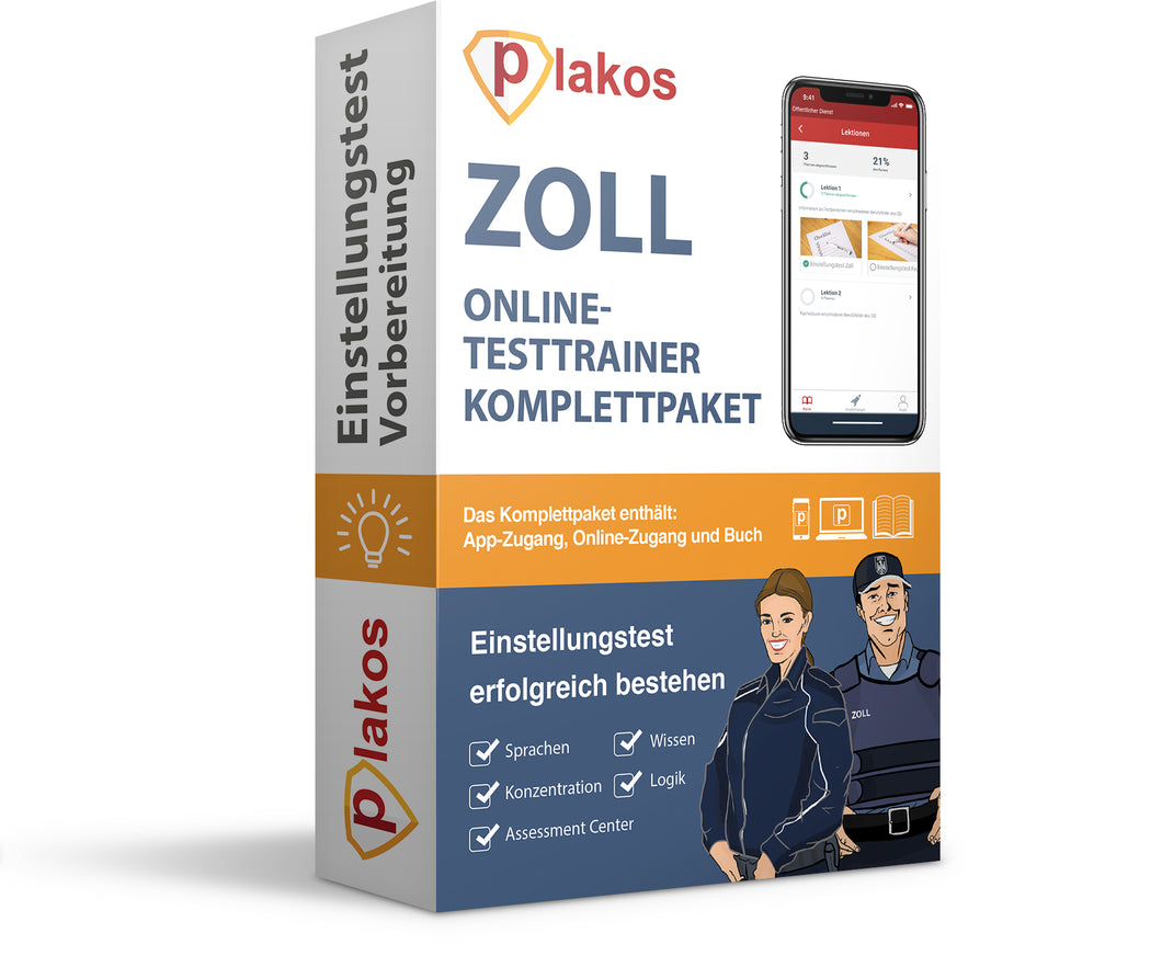 Zoll Einstellungstest Komplettpaket Digital + Print