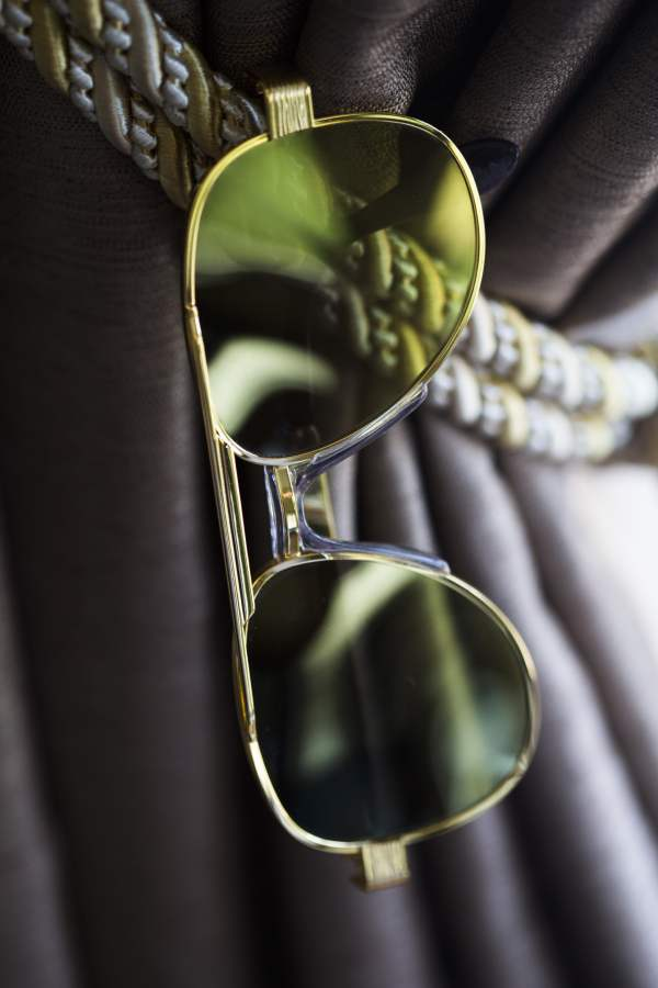 Commodore Aviator, Vintage sunglasses frames gold
