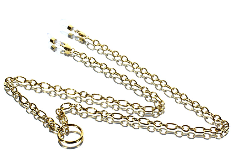 Round Oval Chain 18KT Gold Plated