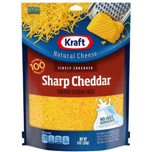 Kraft Shredded Sharp Cheddar Cheese - 8oz. - East Side Grocery