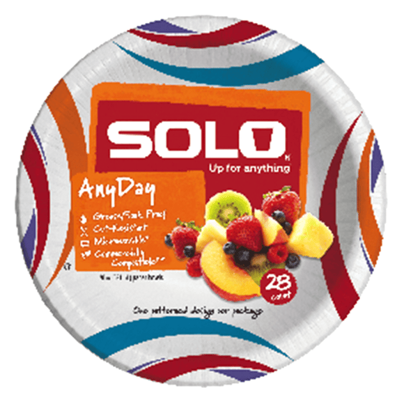 Solo Paper Bowls  20oz. 28 Count - East Side Grocery