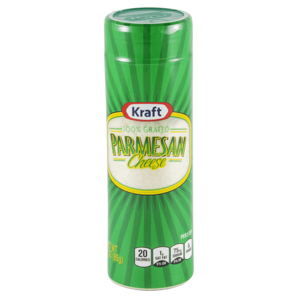 Kraft Grated Parmesan Cheese 3oz. - East Side Grocery