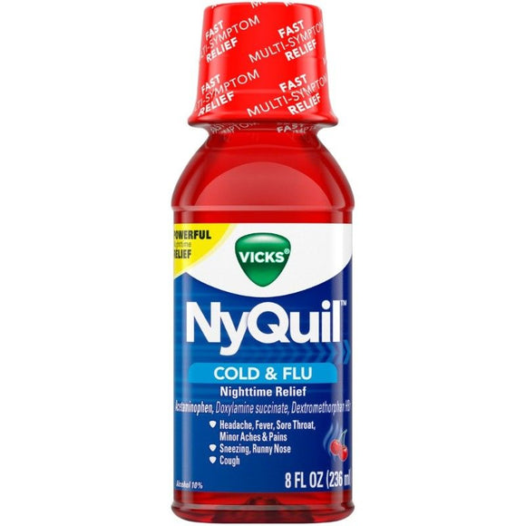 Nyquil Liquid Cherry 8oz. - East Side Grocery