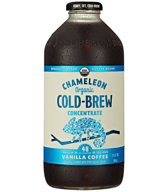 Chameleon Organic Cold Brew Vanilla Coffee Concentrates - 32oz. - East Side Grocery