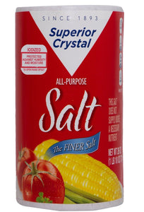 Superior Crystal Iodized Salt  26oz. - East Side Grocery