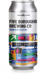 Five Boroughs Gridlock Hazy IPA - 16oz. Can - East Side Grocery