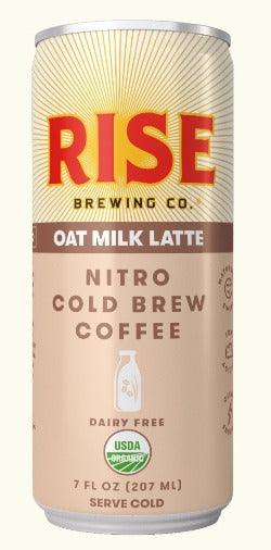 Rise Brewing Cold Brew Oat Milk Latte  7oz. Can - East Side Grocery