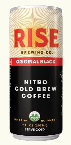 Rise Brewing Cold Brew Original Black Coffee 7oz. Can - East Side Grocery