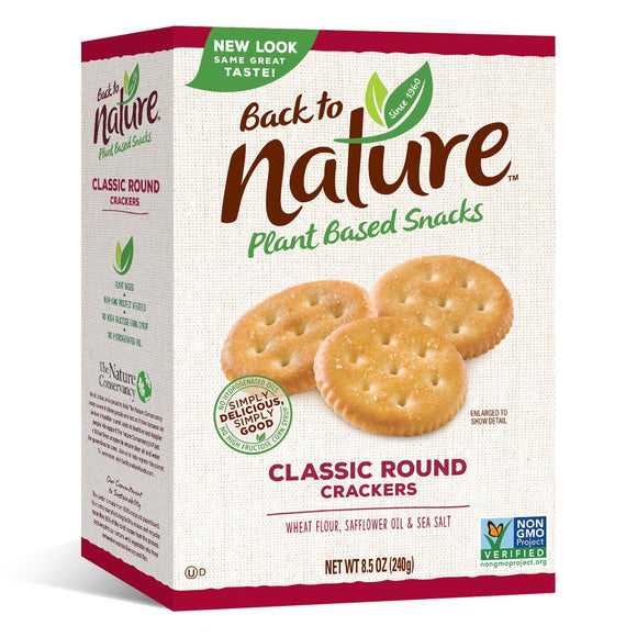 Back to Nature Classic Round Cracker 8.5oz. - East Side Grocery
