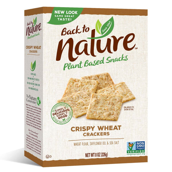 Back to Nature Crispy Wheat Cracker 8oz. - East Side Grocery