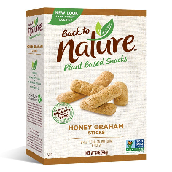 Back to Nature Honey Graham Stick 8oz. - East Side Grocery