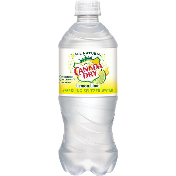 Canada Dry Seltzer Lemon Lime 20oz. Bottle - East Side Grocery