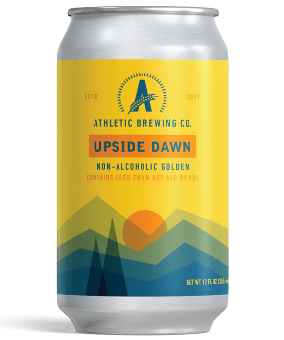 Athletic Run Upside Dawn Non-Alcoholic Golden Ale - 12oz. Can - East Side Grocery