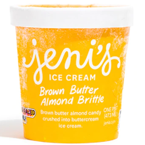 Jeni's Ice Cream Brown Butter Almond Brittle Pint