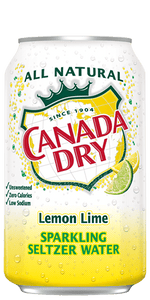 Canada Dry Seltzer Lemon Lime - 12oz. Can - East Side Grocery