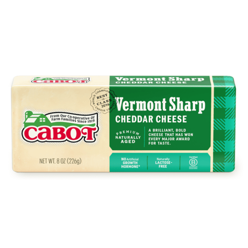 Cabot Cheese Vermont Sharp White 8oz. - East Side Grocery
