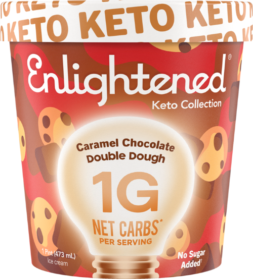 Enlightened Ice Cream Caramel Chocolate Double Dough 1 Pint