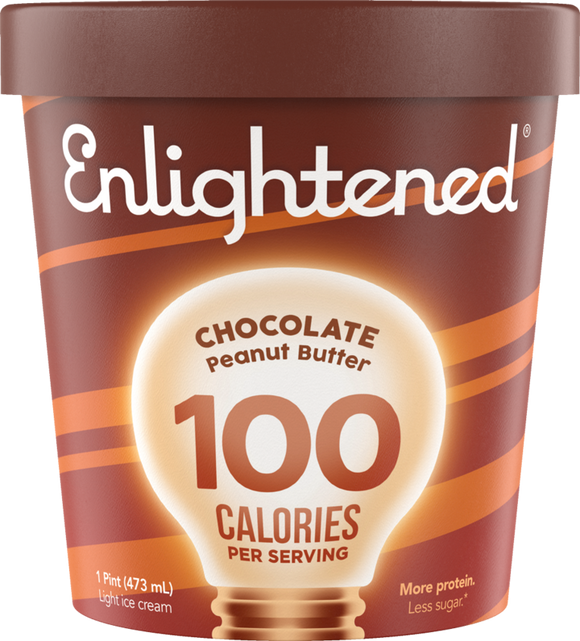 Enlightened Ice Cream Chocolate Peanut Butter 1 Pint - East Side Grocery