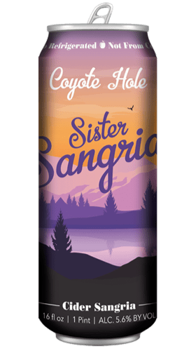 Coyote Hole Sister Sangria Cider 16oz. Can