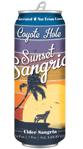 Coyote Hole Sunset Sangria Cider 16oz. Can - East Side Grocery